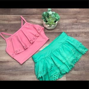 Hannah Andersson 2 piece bikini skirt swim suit